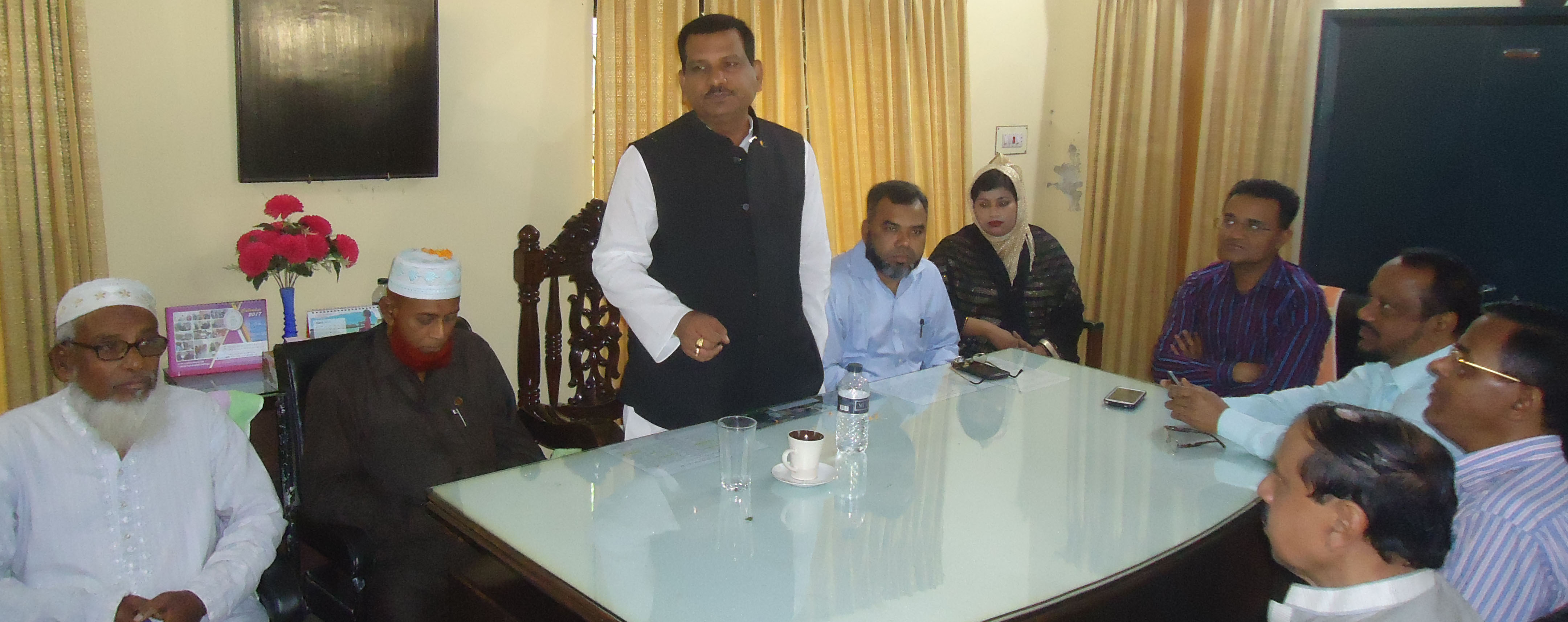 বোর্ড চেয়ারম্যানের সাথে ডিবি খান হোমিওপ্যাথিক মেডিকেল কলেজ নেতৃবৃন্দের মতবিনিময়