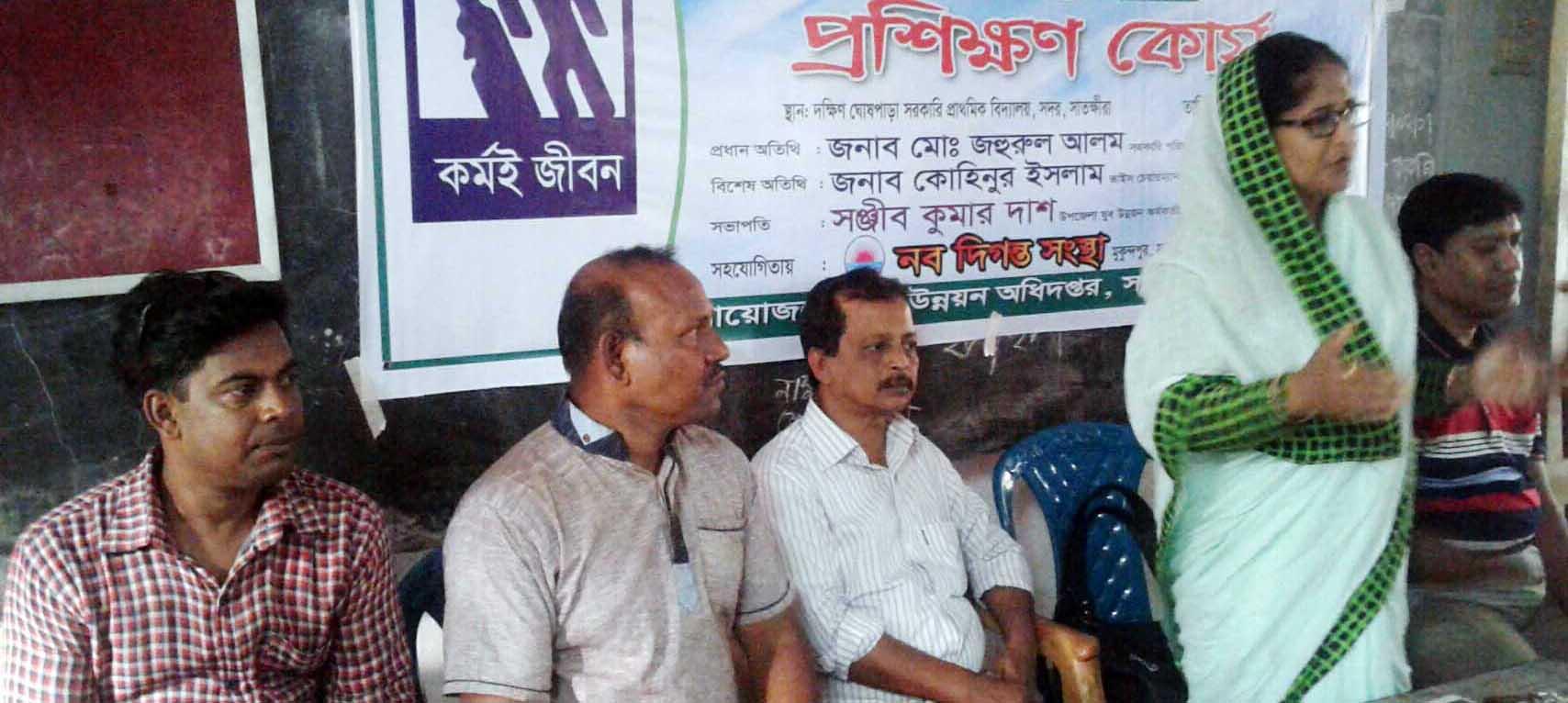 ঘোষপাড়ায় নবদিগন্ত সংস্থার সেলাই প্রশিক্ষণ উদ্বোধন