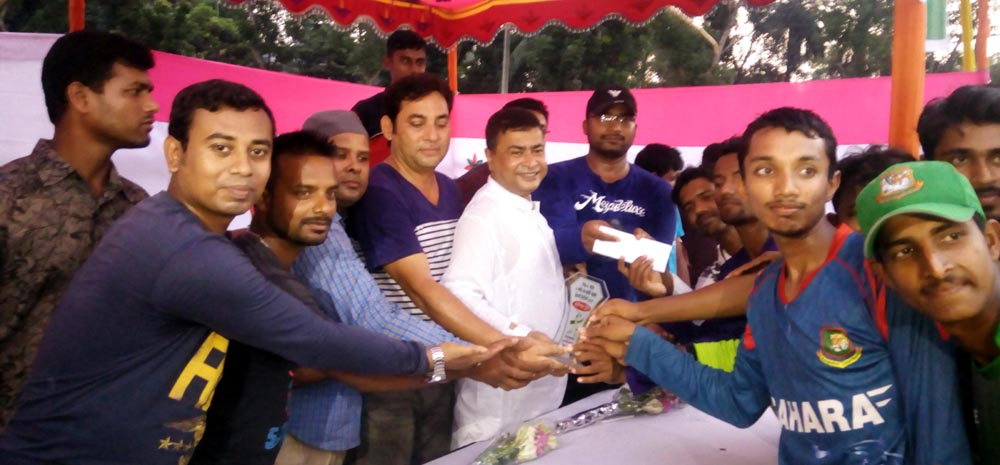 নক আউট সার্কেল ক্রিকেন্ট টুর্নামেন্টে মুনজিতপুর সাইট ক্লাব জয়ী