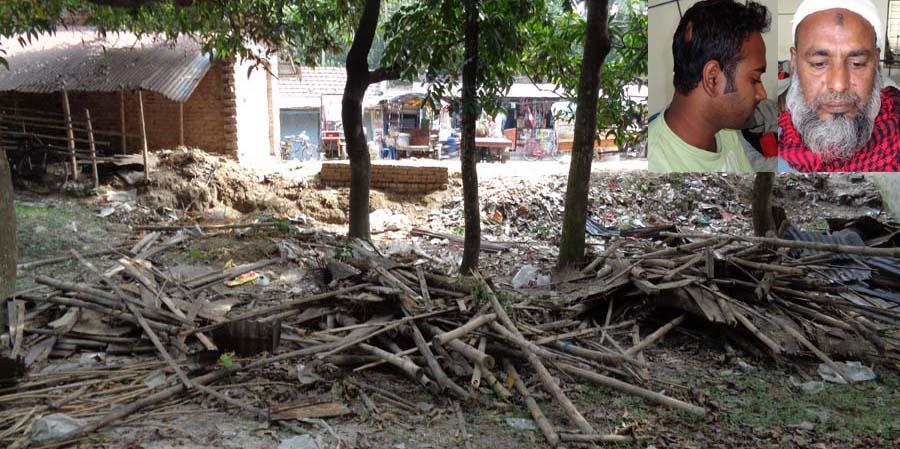 চম্পাফুল কালিবাড়ি বাজারে পাঁচটি দোকান ভাঙচুর: চারজনকে পিটিয়ে জখম