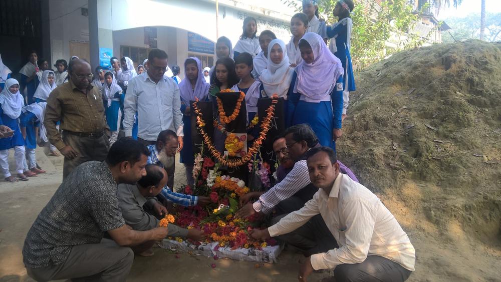 ব্রহ্মরাজপুর ডিবি গার্লস হাইস্কুলে মহান একুশে পালন