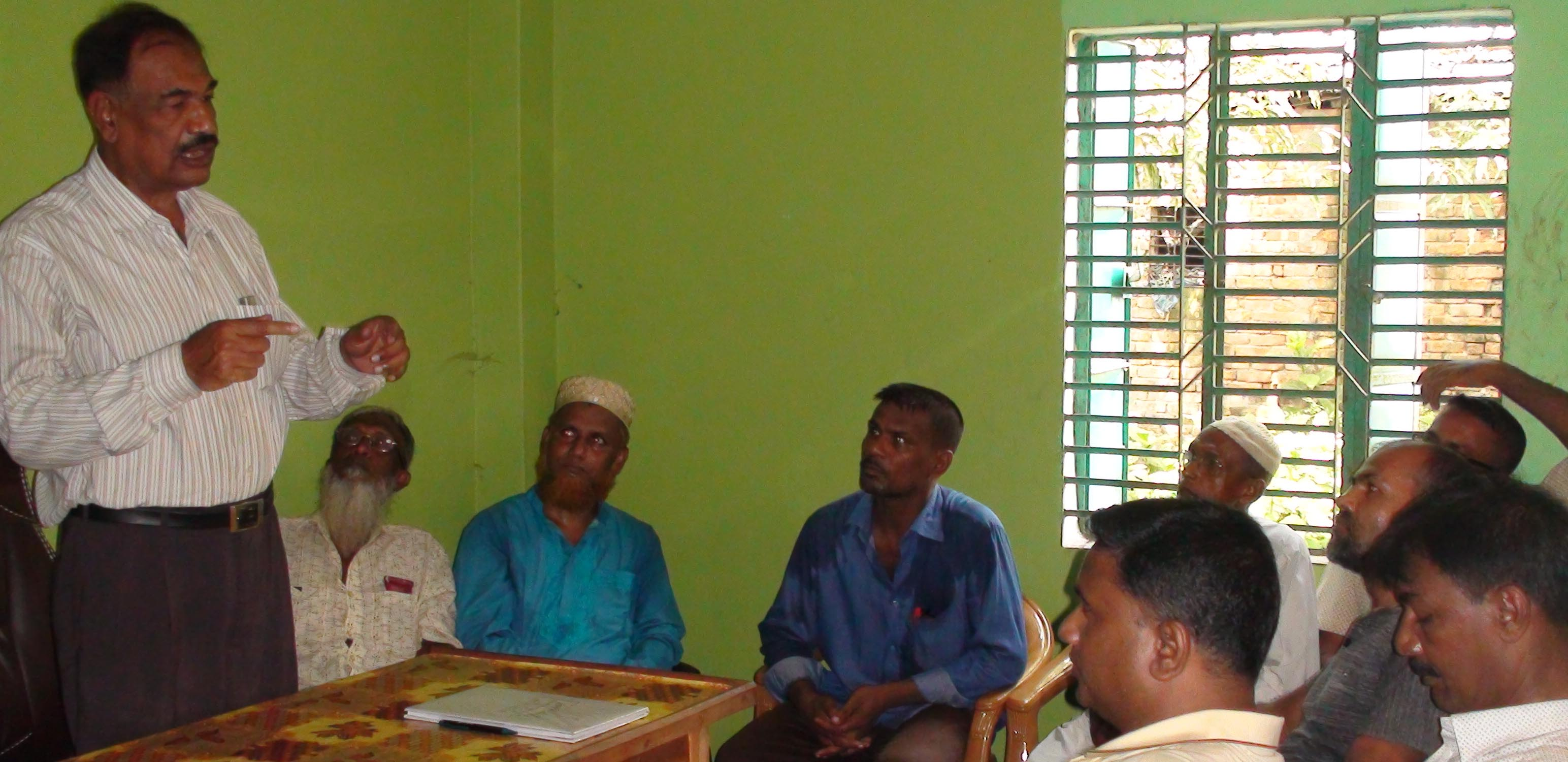 বুধহাটায় অবসরপ্রাপ্ত সৈনিক কল্যাণ সংগঠনের নেতৃবৃন্দের সাথে মুক্তিযোদ্ধা জামায়েতের মতবিনিময়