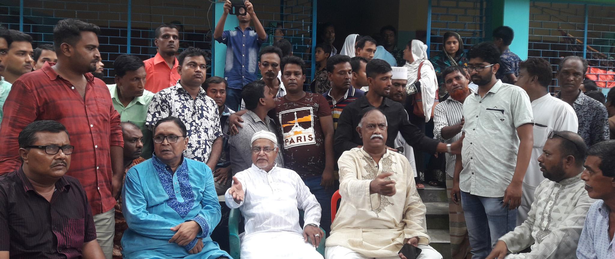 কালিগঞ্জে নিহত ইউপি চেয়ারম্যানের বাড়িতে জাপার প্রতিনিধি দল: আজ মানববন্ধন