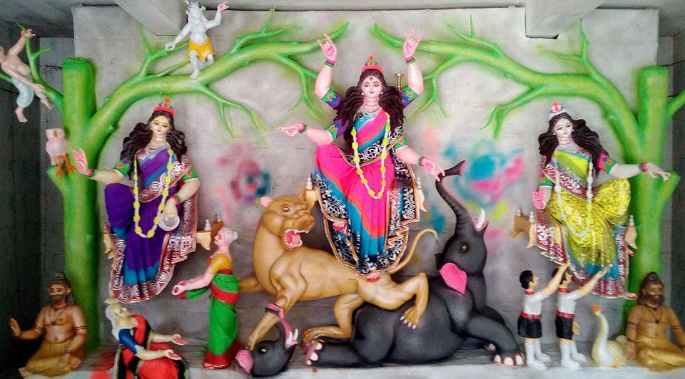 ফিংড়ীতে চারটি জগদ্ধাত্রী পূজা মন্দিরে পাঁচদিনব্যাপি পূজা শুরু