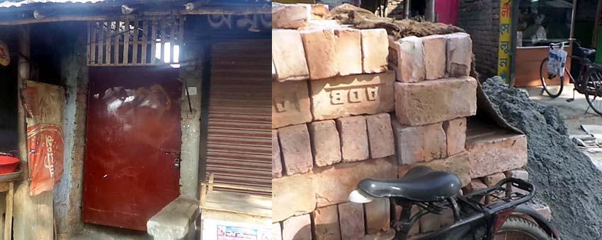 ব্রহ্মরাজপুরে সরকারী জমিতে পাকা স্থাপনা নির্মাণ বন্ধ করলো ভূমি অফিস