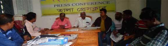 সাতনদী সম্পাদকের ওপর হামলার প্রতিবাদে তালা প্রেসক্লাবে সভা