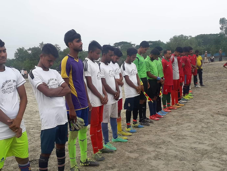 কলারোয়ার কাজীরহাটে ফুটবল ম্যাচে জামতলাকে হারালো স্বাগতিকরা