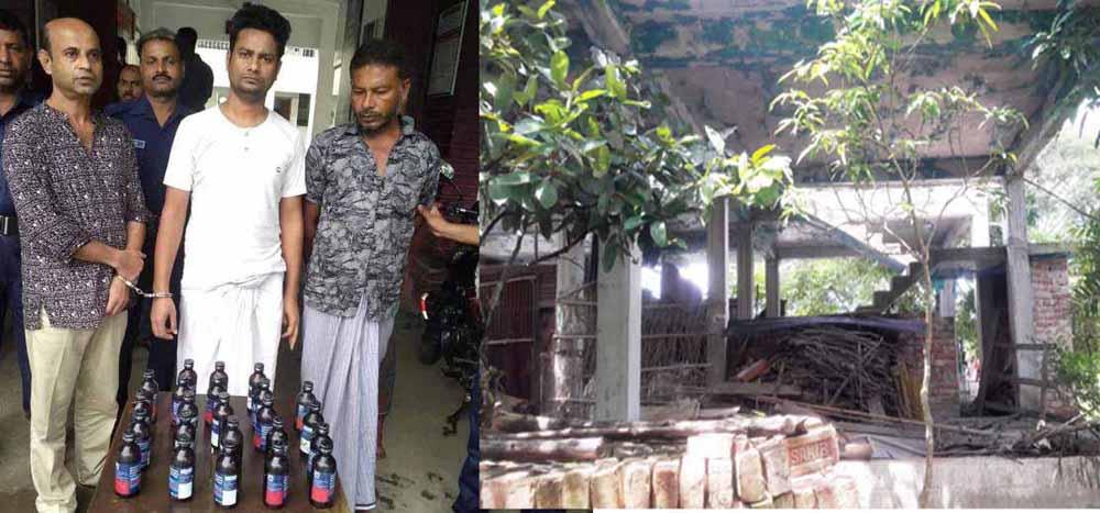 শ্যামনগরে কথিত মাদক ব্যবসায়ী উজ্জ্বল আটক: গা ঢাকা দিয়েছে হোটেল মালিক খোকন