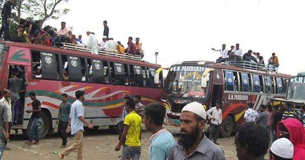 ধর্মঘট প্রত্যাহার: জেলায় বাস চলাচল শুরু